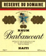 Barbancourt Reserve du Domain, Barbancourt 15 year label unavailable