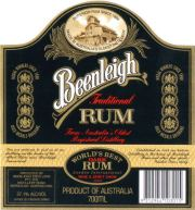 Beenleigh Traditional Dark Rum label unavailable