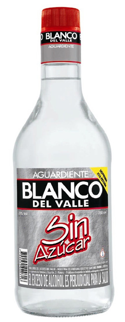 Aguardiente Blanco del Valle sin Azúcar label unavailable