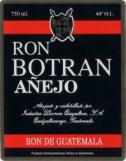 Botran - Ron Botran Añejo label unavailable