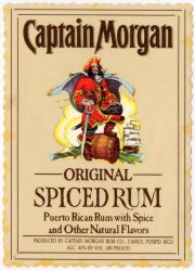Captain Morgan Original Spiced Rum label unavailable