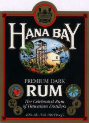 Hana Bay Black Rum label unavailable