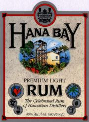 Hana Bay Silver Rum label unavailable