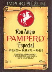 Pampero Ron Añejo Especial label unavailable