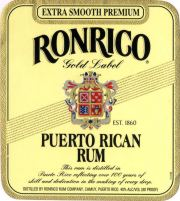 Ron Rico Gold label unavailable