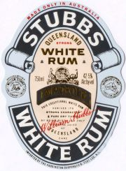 Stubbs Queensland White Rum label unavailable